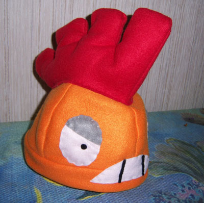 Scrafty hat side view