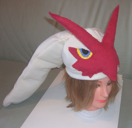 Blaziken hat - side view